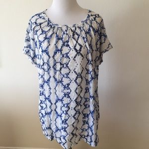 Rebecca Taylor Tie Dye Linen T-Shirt - Size Small